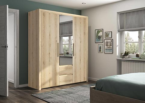 garde robe armoire chambre a coucher adulte ABBY 07