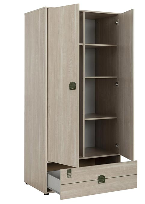 garde robe armoire chambre a coucher adulte INDIANA 01