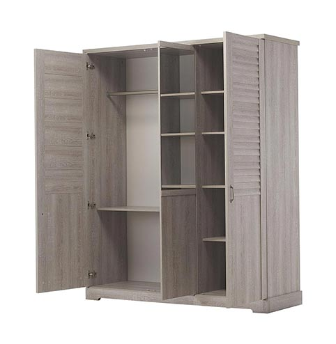 garde robe armoire chambre a coucher adulte THELMA 10