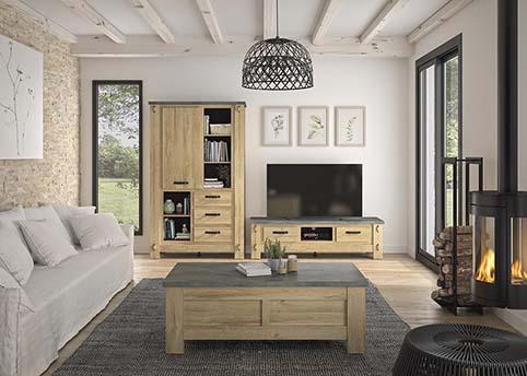 meuble salon complet chateau prayon BROCELIANDE 02