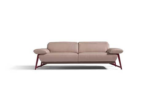 divan cuir moderne beige
