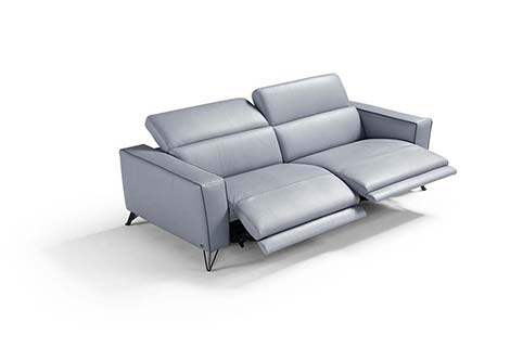 divan cuir moderne bleu clair relax
