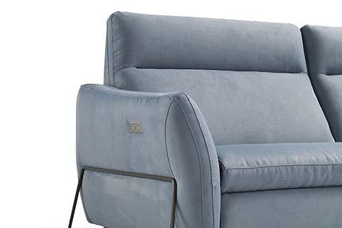 divan microfibre moderne bleu clair relax