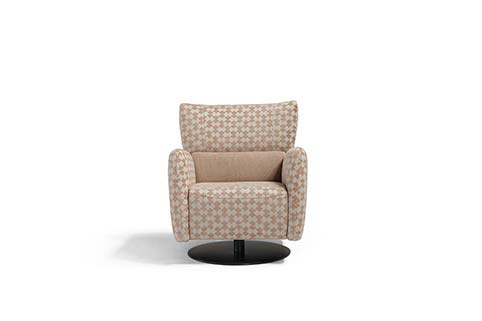 fauteuil tissu moderne beige clair