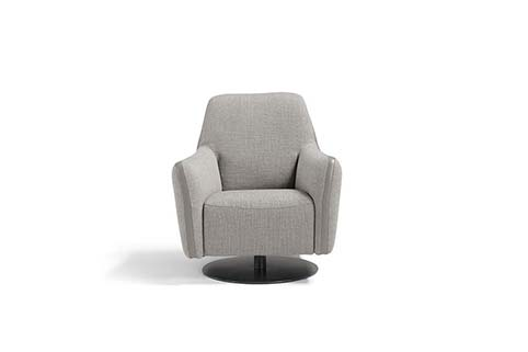 fauteuil tissu moderne gris clair