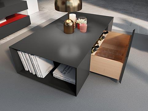 Table Basse Salle a Manger Tendance Black