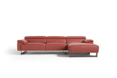 Canape Angle Vachette Design Rouge