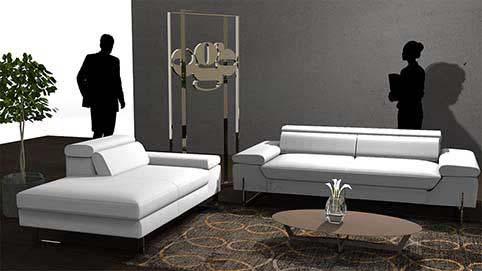 Canape Design Blanc