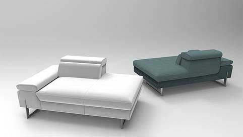 Canape Design Noir Blanc