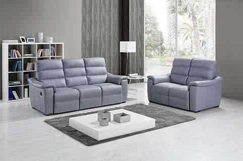 Canape Droit Cuir Classique 3 2 Places Relaxation