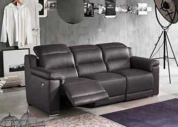 Canape Droit Cuir Classique Relax Noir