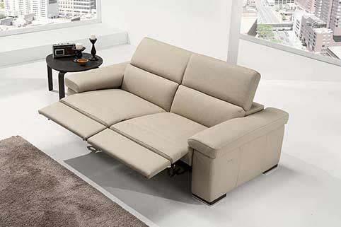 Canape Droit Relaxation Beige 2 Places