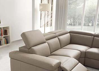 Canape Droit Relaxation Bleu 2 Places