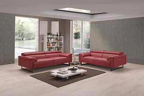 Canape Droit Vachette Design Rouge 2