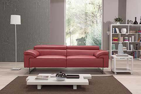 Canape Droit Vachette Design Rouge