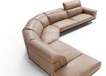 Salon Canape Angle Brun Moderne 2