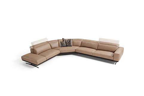 Salon Canape Angle Brun Moderne