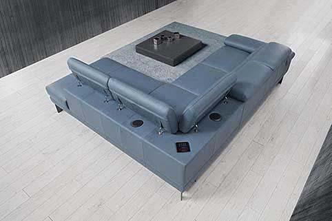 Salon Canape Modern Angle Cuir 4