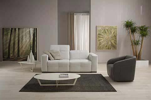 Salon Canape Modern Droit Blanc 2