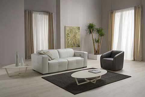 Salon Canape Modern Droit Blanc