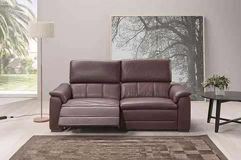 canape en cuir relax 2 2 1 Brun 2