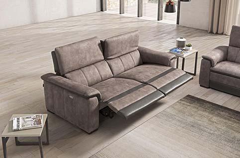 Canape Fibre Brun Relax